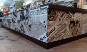 My Wrapping: restyling e rinnovo bancone bar con grafica personalizzata